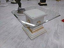 Karo Medusa COUCHTISCH Tisch MÄANDER GLASPLATTE