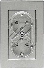 Karre Doppelsteckdose silber 92105061 / 92512058