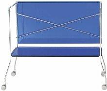 Kartell 4465E4 Beistellwagen Flip transparent blau