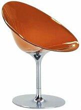 Kartell 4835E3 Schalensessel Ero/S orange Drehfuß