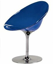 Kartell 4835E4 Schalensessel Ero/S kobaltblau Drehfuß