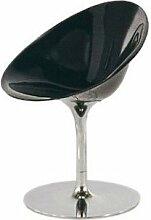 Kartell 4835E6 Schalensessel Ero/S schwarz glänzend Drehfuß