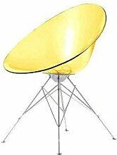Kartell 4837E1 Schalensessel Ero/S, 4B-Gestell gelb