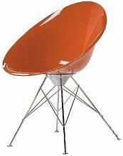 Kartell 4837E3 Schalensessel Ero/S, 4B-Gestell orange