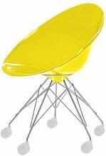Kartell 4839E1 Schalensessel Ero/S, 5R-Gestell gelb