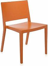 Kartell 486950 Stuhl Lizz Mat, orange