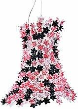 Kartell 9250RN Hängeleuchte Bloom transparent, rosa/schwarz