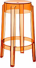 Kartell - Charles Ghost Barhocker H 65 cm, orange