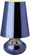 Kartell Cindy LED-Nachttischlampe, blau metallic
