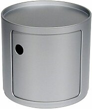 Kartell Componibili  Schrank Small (1 Comp.) Silber Schrank (h) 38.50 X (Ø) 42.00 Cm
