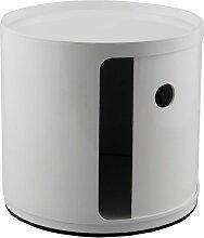 Kartell Componibili Schrank  Small (1 Comp.) Weiß