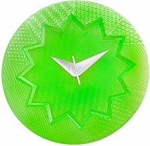 Kartell Crystal Palace Wanduhr Ø19cm, grün