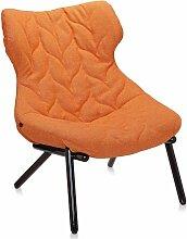 Kartell Foliage Sessel Schwarzes Untergestell Trevira Orange