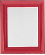Kartell Francois Ghost Wandspiegel, Plastik, rot transparent, 5.7 x 79 x 5.7 cm