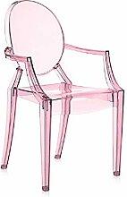 Kartell Ghost Stuhl Lou, rosa transparent, 39x