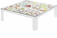 Kartell - Invisible Kindertisch, 100 x 100 cm, transparent / mehrfarbig