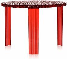 Kartell T-Table Couchtisch Rot Medium (h) 36.00 X