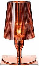 Kartell Take lampe, Polycarbonat, Bernstein, 19 x