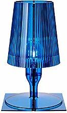 Kartell Take lampe, Polycarbonat, E14, blau, 19 x