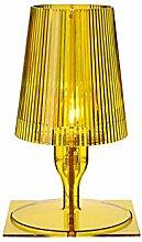 Kartell Take lampe, Polycarbonat, E14, gelb, 19 x