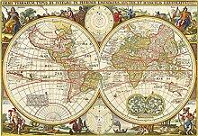 Karten Fototapete 3D 350Cmx245Cm Nautischer Retro