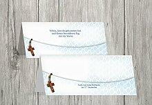 Kartenparadies Tischkarte Taufe Taufe Tisch Floral Rapport, hochwertige Platzkarte zur Tauffeier | 10 Karten - (Format: 100x44 mm) Farbe: Hellblauleuchtend