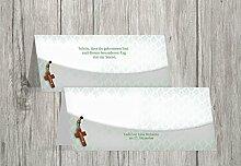 Kartenparadies Tischkarte Taufe Taufe Tisch Floral Rapport, hochwertige Platzkarte zur Tauffeier | 30 Karten - (Format: 100x44 mm) Farbe: Grau