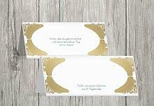 Kartenparadies Tischkarte Taufe Taufe Tisch Neu Barock, hochwertige Platzkarte zur Tauffeier | 50 Karten - (Format: 100x44 mm) Farbe: Braunbeige