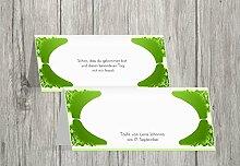 Kartenparadies Tischkarte Taufe Taufe Tisch Neu Barock, hochwertige Platzkarte zur Tauffeier | 100 Karten - (Format: 100x44 mm) Farbe: Grasgruen