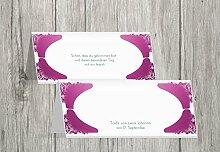 Kartenparadies Tischkarte Taufe Taufe Tisch Neu Barock, hochwertige Platzkarte zur Tauffeier | 80 Karten - (Format: 100x44 mm) Farbe: Lila