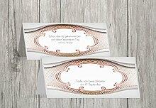 Kartenparadies Tischkarte Taufe Taufe Tisch Schale & Rahmen, hochwertige Platzkarte zur Tauffeier | 70 Karten - (Format: 100x44 mm) Farbe: flamingoorangero