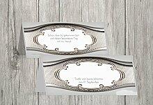 Kartenparadies Tischkarte Taufe Taufe Tisch Schale & Rahmen, hochwertige Platzkarte zur Tauffeier | 80 Karten - (Format: 100x44 mm) Farbe: braunmatsch