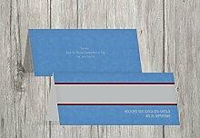 Kartenparadies Tischkarten Hochzeit Hochzeit Tisch Für immer, hochwertige Platzkarten für den Hochzeitstisch | 60 Karten - (Format: 100x44 mm) Farbe: KräftigHellMarineblau