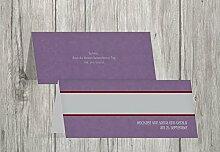 Kartenparadies Tischkarten Hochzeit Hochzeit Tisch Für immer, hochwertige Platzkarten für den Hochzeitstisch | 80 Karten - (Format: 100x44 mm) Farbe: LilaFlieder