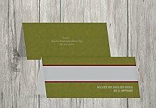 Kartenparadies Tischkarten Hochzeit Hochzeit Tisch Für immer, hochwertige Platzkarten für den Hochzeitstisch | 50 Karten - (Format: 100x44 mm) Farbe: Matschgrün