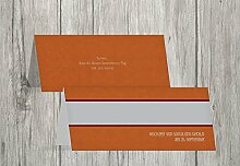 Kartenparadies Tischkarten Hochzeit Hochzeit Tisch Für immer, hochwertige Platzkarten für den Hochzeitstisch | 70 Karten - (Format: 100x44 mm) Farbe: DunkelMattRo