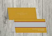 Kartenparadies Tischkarten Hochzeit Hochzeit Tisch Für immer, hochwertige Platzkarten für den Hochzeitstisch | 20 Karten - (Format: 100x44 mm) Farbe: DunkelGelb
