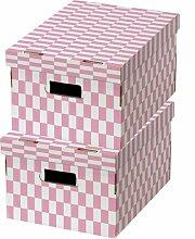 Karton Compactor Checked (Set of 5) Ebern Designs