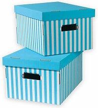 Karton Compactor Stripey (Set of 5) Ebern Designs