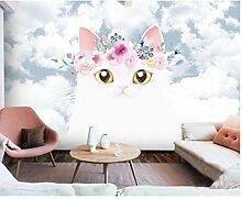 Karton Katze Tapete Tapete für Kinderzimmer 3d