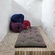 Karup–Bett in einer Tasche, Futon Rolle bis hellgrau