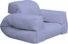 KARUP Kommune Hippo Chair Stuhl, Baumwolle/Polyester, Blau Brise 751, 100x 90x 75cm