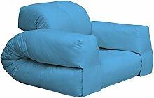 KARUP Kommune Hippo Chair Stuhl, Baumwolle/Polyester, Blau Horizont 739, 100x 90x 75cm