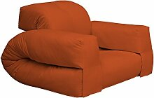 KARUP Kommune Hippo Chair Stuhl, Baumwolle/Polyester, Orange 738, 100x 90x 75cm