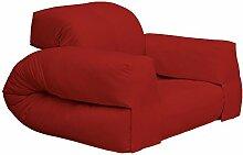 KARUP Kommune Hippo Chair Stuhl, Baumwolle/Polyester, rot 711, 100x 90x 75cm