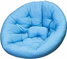 KARUP Kommune Nest Futon Chair Stuhl, Baumwolle/Polyester, Blau Horizont 739, 120x 110x 85cm