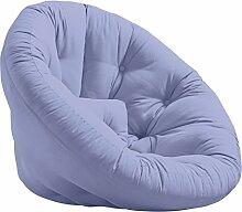 KARUP Kommune Nest Futon Chair Stuhl, Baumwolle/Polyester, Blau Brise 751, 85x 90x 75cm