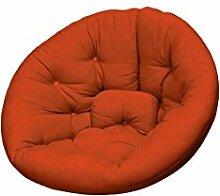 KARUP Kommune Nest Futon Chair Stuhl, Baumwolle/Polyester, Orange 738, 120x 110x 85cm
