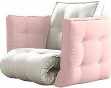 KARUP Kommune sagt Futon Chair Stuhl, Baumwolle/Polyester, Pink Peonies 749, 80x 80x 60cm