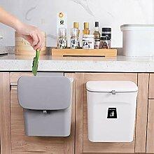 KaryHome kleiner Küchen-Mülleimer mit Deckel,